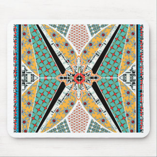 Modern Africa Centre Vibrant Pattern Mouse Pad