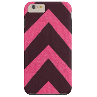 Modern African black arrows pink leather look Tough iPhone 6 Plus Case