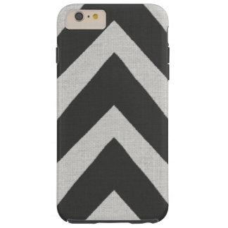 Modern African Print black arrows linen look Tough iPhone 6 Plus Case