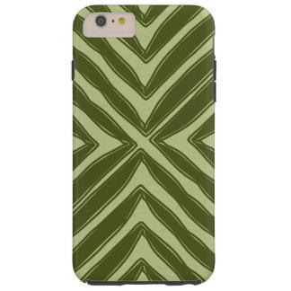 Modern African Print Green Linen Look Tough iPhone 6 Plus Case