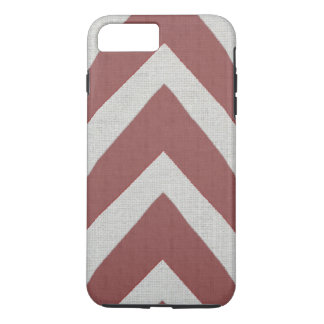 Modern African Print red arrows linen look iPhone 7 Plus Case