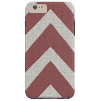 Modern African Print red arrows linen look Tough iPhone 6 Plus Case