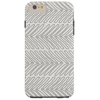 Modern African Tribal Arrows White Leather Look Tough iPhone 6 Plus Case