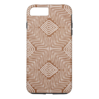 Modern African Tribal Brown Leather Look iPhone 8 Plus/7 Plus Case