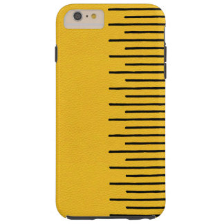 Modern African Tribal Lines Yellow Leather Look Tough iPhone 6 Plus Case