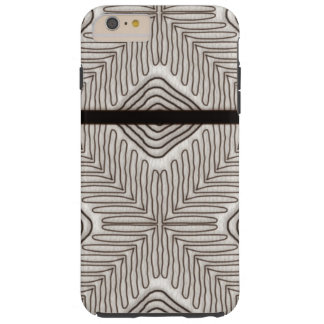 Modern African Tribal Print White Leather Look Tough iPhone 6 Plus Case