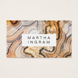 Modern Agate Abstract Macro Design Business Card