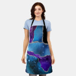 Modern Agate MultiColored Apron