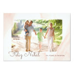 Modern Aguarela photo Happy Christmas Card