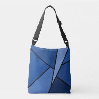 Modern All-Over-Print Blue Geometric Shapes Crossbody Bag