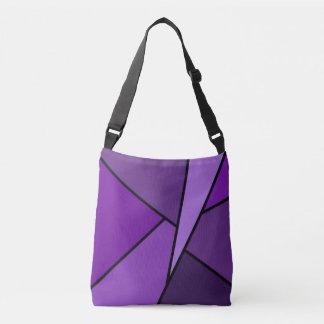 Modern All-Over-Print Purple Geometric Shapes Crossbody Bag