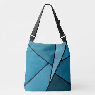 Modern All-Over-Print Teal Geometric Shapes Crossbody Bag