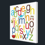"Modern Alphabets Kid Wall Art<br><div class=""desc"">This designer canvas art featuring adorable illustrations and bright,  modern alphabets will make a great kid&#39;s room or playroom decoration. Great as a gift! Design &#169; berryberrysweet.com Exclusive design by &#169; berryberrysweet.com</div>"