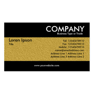 Modern - Amber Embossed Texture Business Card