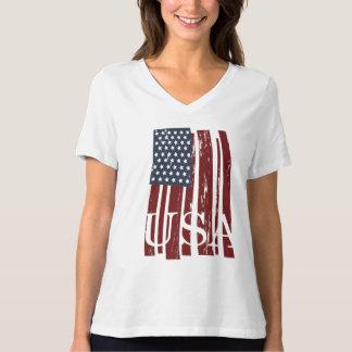 Modern American Flag Tee - Distressed Vintage