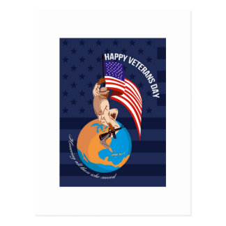 Modern American Veterans Day Greeting Card Post Cards