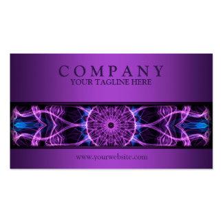 modern Amethyst Desire mandala purple Double-Sided Standard Business Cards (Pack Of 100)