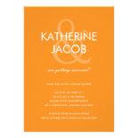 Modern Ampersand Wedding Shower Invites Orange