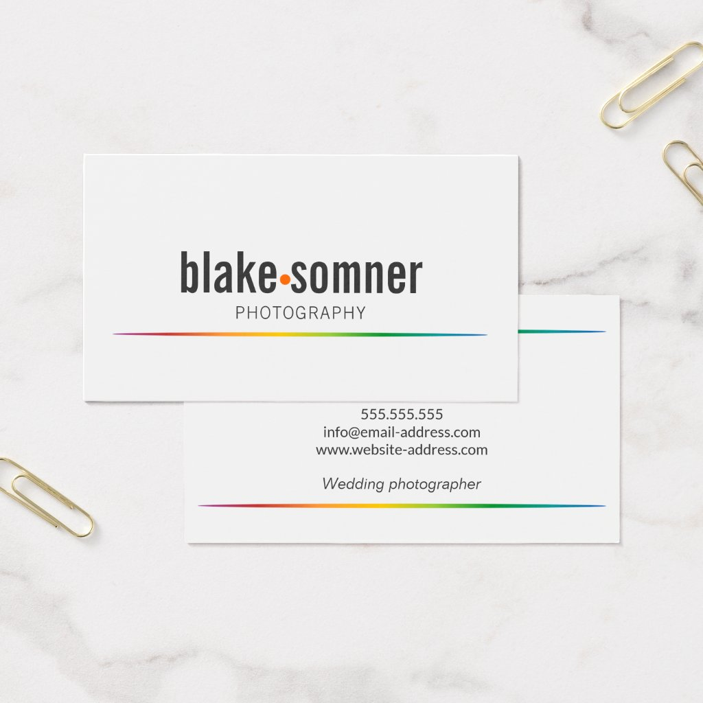 Modern and Bold Photographer Business Card