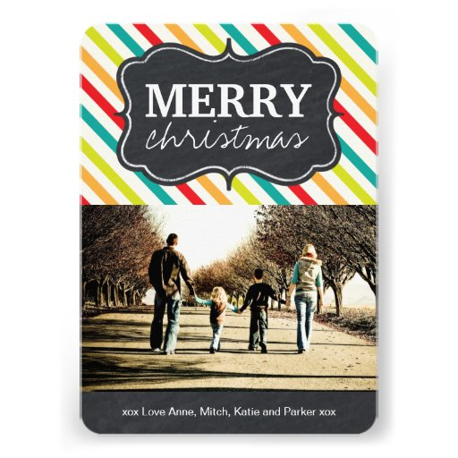 Modern and Bright Chalkboard Christmas Photo Cards