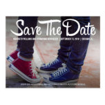 Modern and Casual Photo Save The Date Postcard