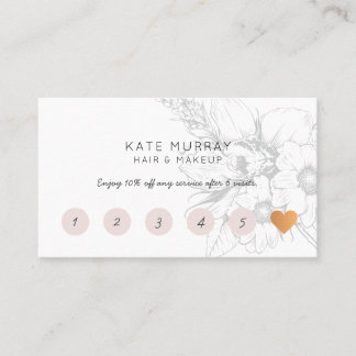 Modern and Chic Flat Loyalty Card
