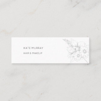 Modern and Chic Mini Business Card