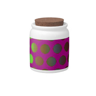 modern and colorful design to spots candy dish