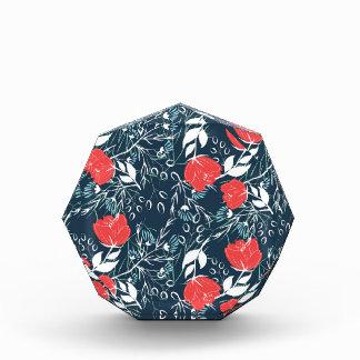 Modern and elegant floral pattern acrylic award