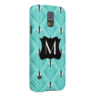 Modern and elegant pattern with monogram galaxy s5 covers