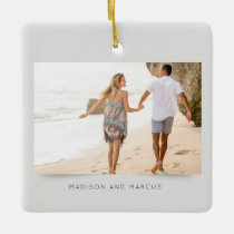 Modern and Elegant Photo Ceramic Ornament