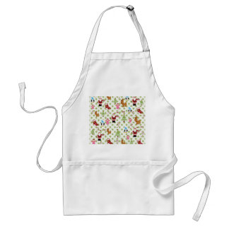 Modern and Fun Christmas Collage Adult Apron
