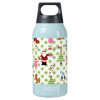 Modern and Fun Christmas Collage Insulated Water Bottle