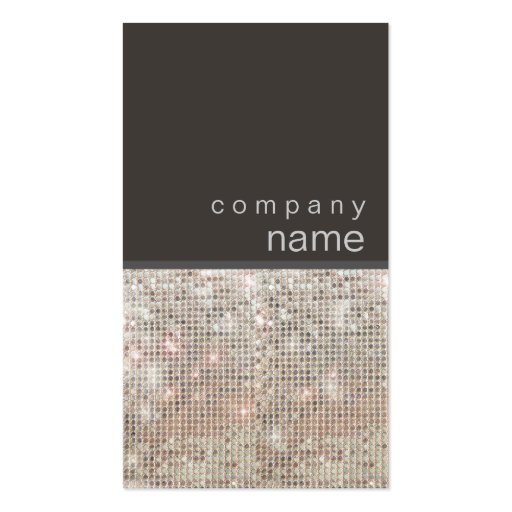 Modern and Hip FAUX Sequin Business Card
