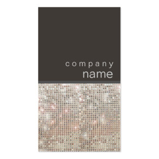 Modern and Hip FAUX Sequin Entertainer Double-Sided Standard Business Cards (Pack Of 100)