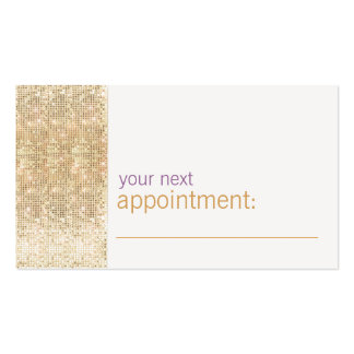 Modern and Hip Gold FAUX Sequin Appointment Card Double-Sided Standard Business Cards (Pack Of 100)