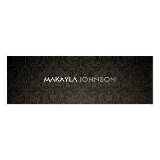 Modern and Minimal Damask Double-Sided Mini Business Cards (Pack Of 20)