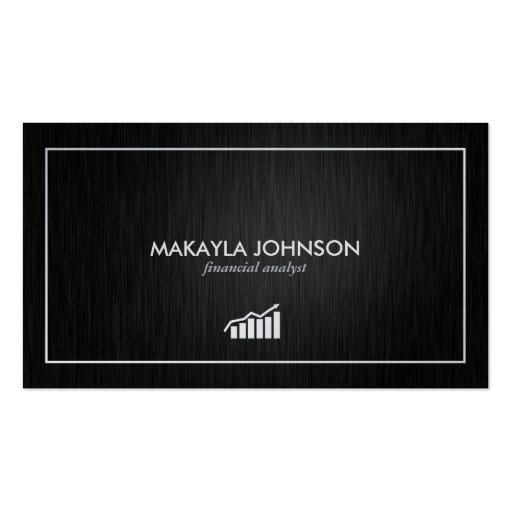 Modern and Minimal Financial Analyst Business Card Template