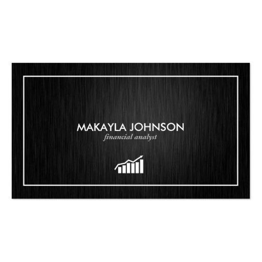 Modern and Minimal Financial Analyst Business Card Templates