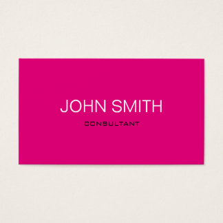 Modern and Minimal Pink Business Card