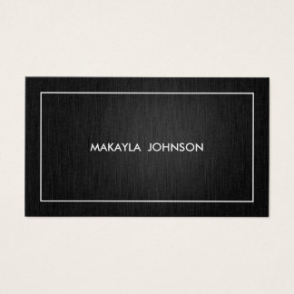 Modern and Minimal Professional Black and Gold Business Card