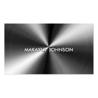 Modern and Minimal Professional Metallic Business Cards