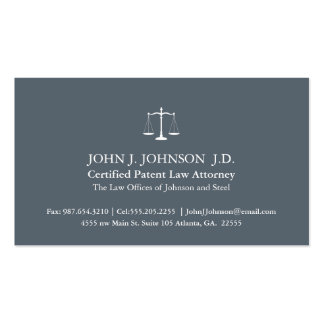 Modern and Minimal Slate Grey Attorney Business Card