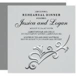 Modern and Minimalist Rehearsal Dinner Invitation