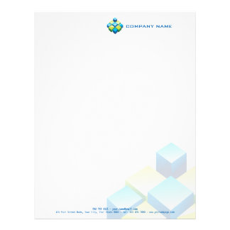 Modern and professional 3D realtor / construction… Letterhead