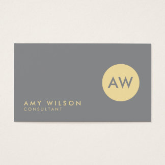 Modern and Professional Light Grey and Cream Business Card