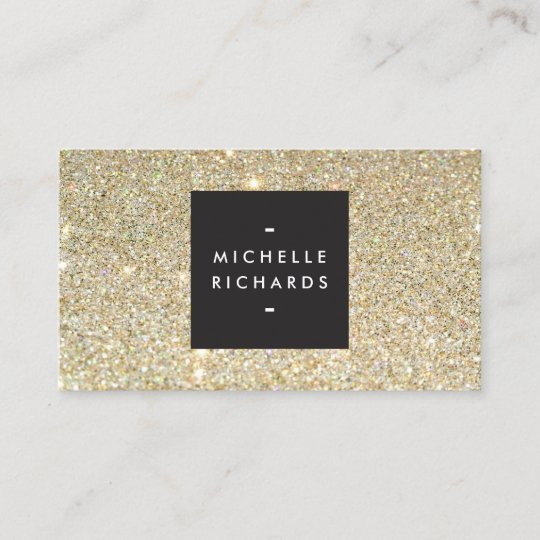 Modern and simple black box on gold glitter business card zazzle modern and simple black box on gold glitter business card colourmoves