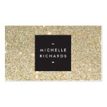 MODERN and SIMPLE BLACK BOX on GOLD GLITTER Business Cards