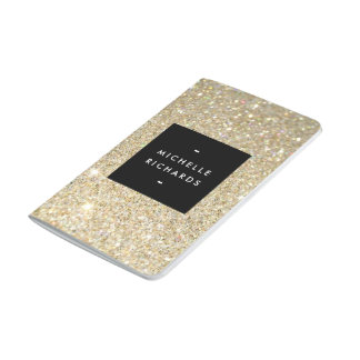 MODERN and SIMPLE BLACK BOX on GOLD GLITTER Journal