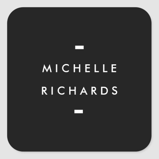 MODERN and SIMPLE BLACK BOX Square Sticker